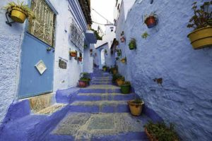 Alleys of Chefchaouen, Morocco